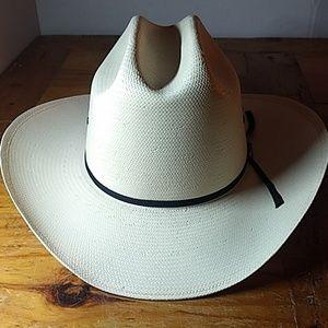 Cowboy hat, stetson,sz 7 1/8, shantung panama